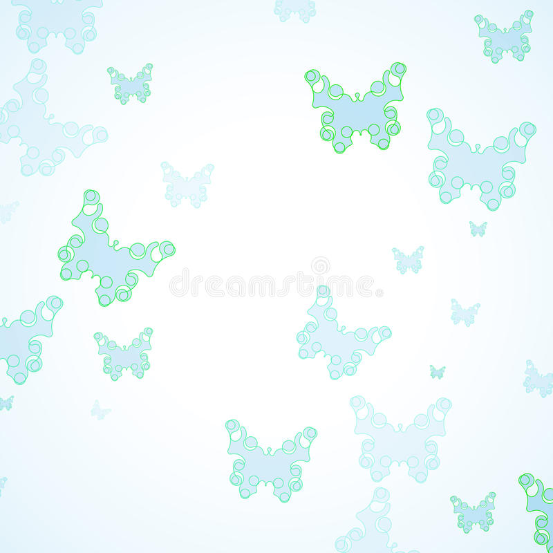 Abstract Butterfly background. Futuristic art illustration eps10 royalty free illustration