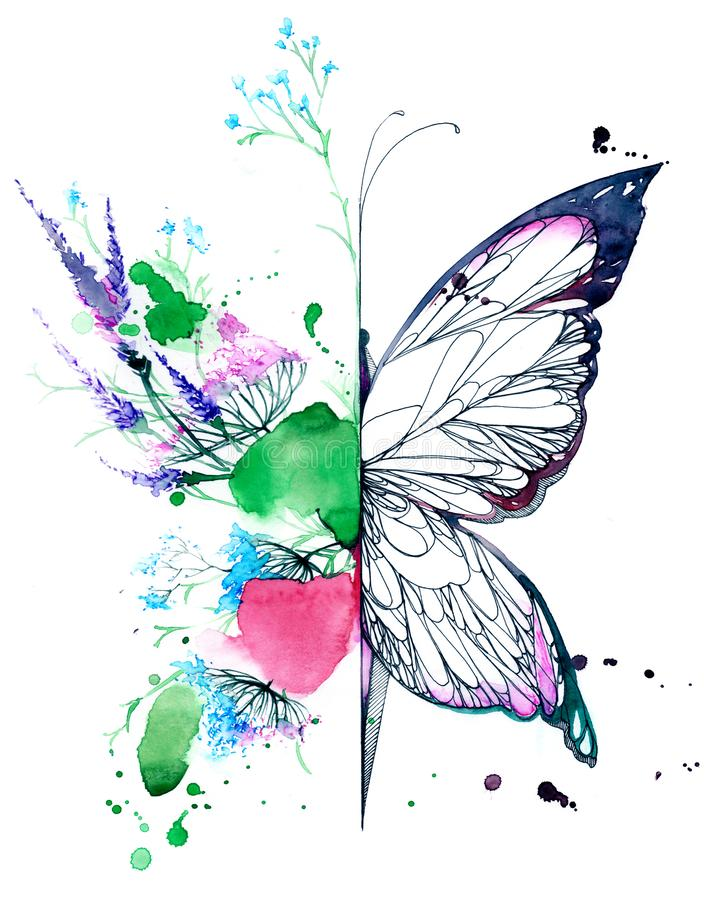 Abstract butterfly royalty free illustration