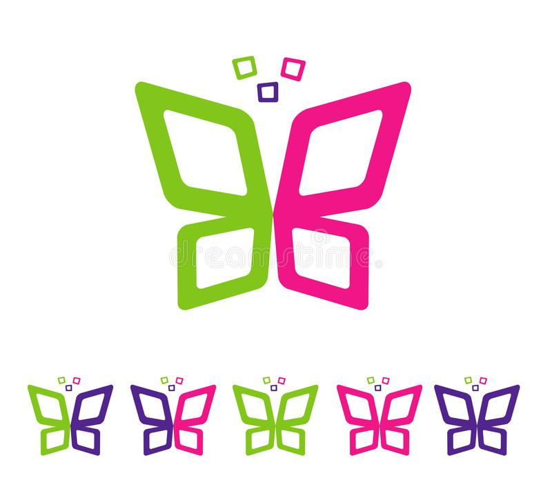 Abstract butterfly full color stock illustration