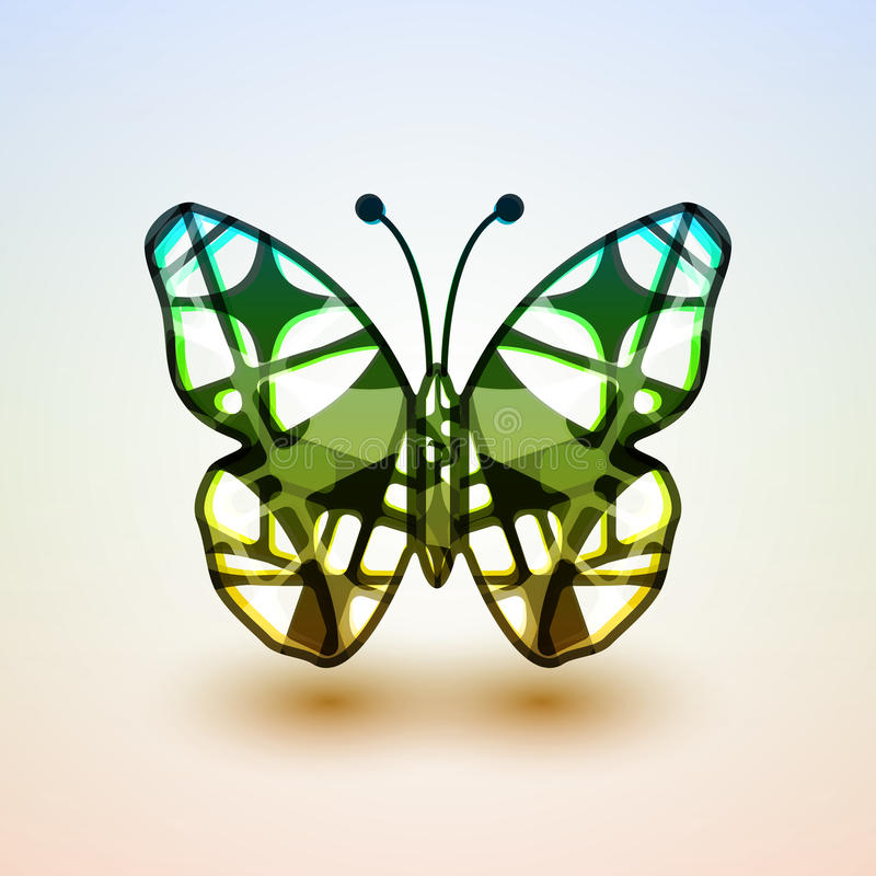 Abstract butterfly. Futuristic colorful illustration stock illustration