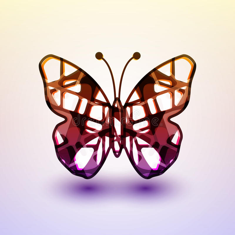 Abstract butterfly. Futuristic colorful illustration vector illustration