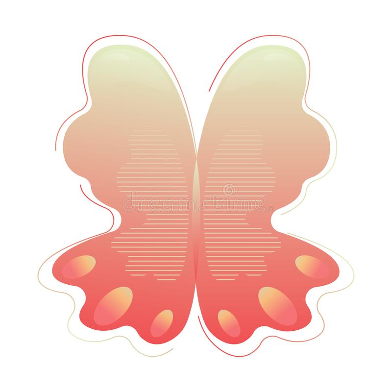 An abstract butterfly modern shape. Gradient abstract shape with flowing liquid elements. Graphic resource for the vector illustration