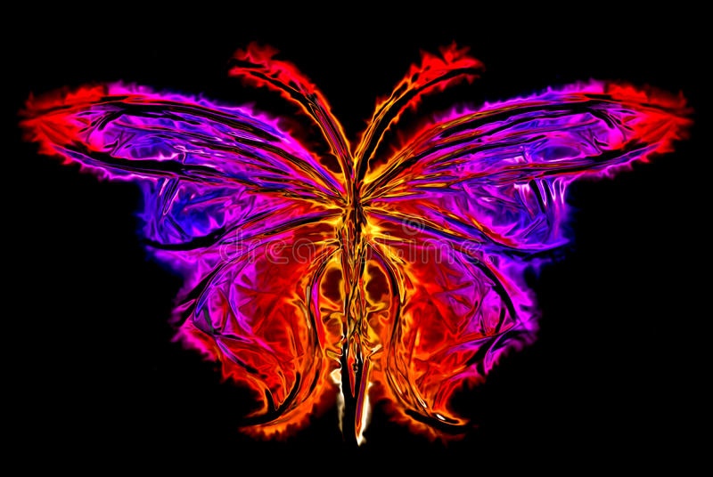 Abstract butterfly silhouette stock illustration