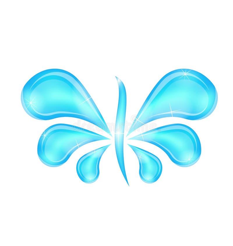 Abstract butterfly stylized water splash drops. Illustration abstract butterfly stylized water splash drops - vector stock illustration