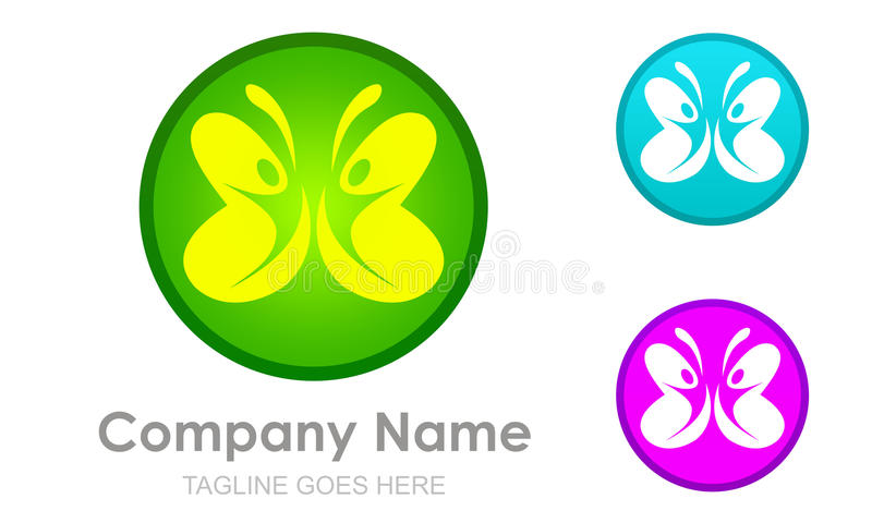 butterfly Abstract and team work or couple royalty free illustration