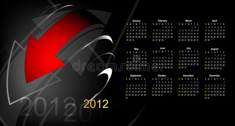 Download Abstract calendar 2012 stock vector. Illustration of annual - 23436942