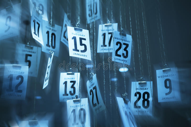 Abstract Calendar Time Background royalty free stock photo