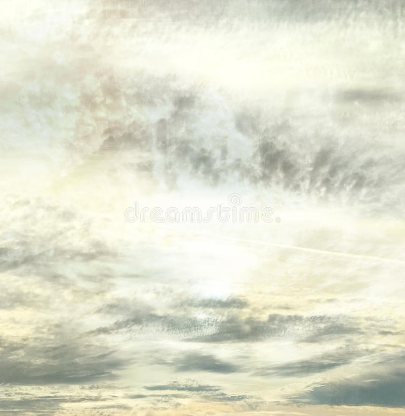 Abstract calm mellow Arizona evening sky stock images