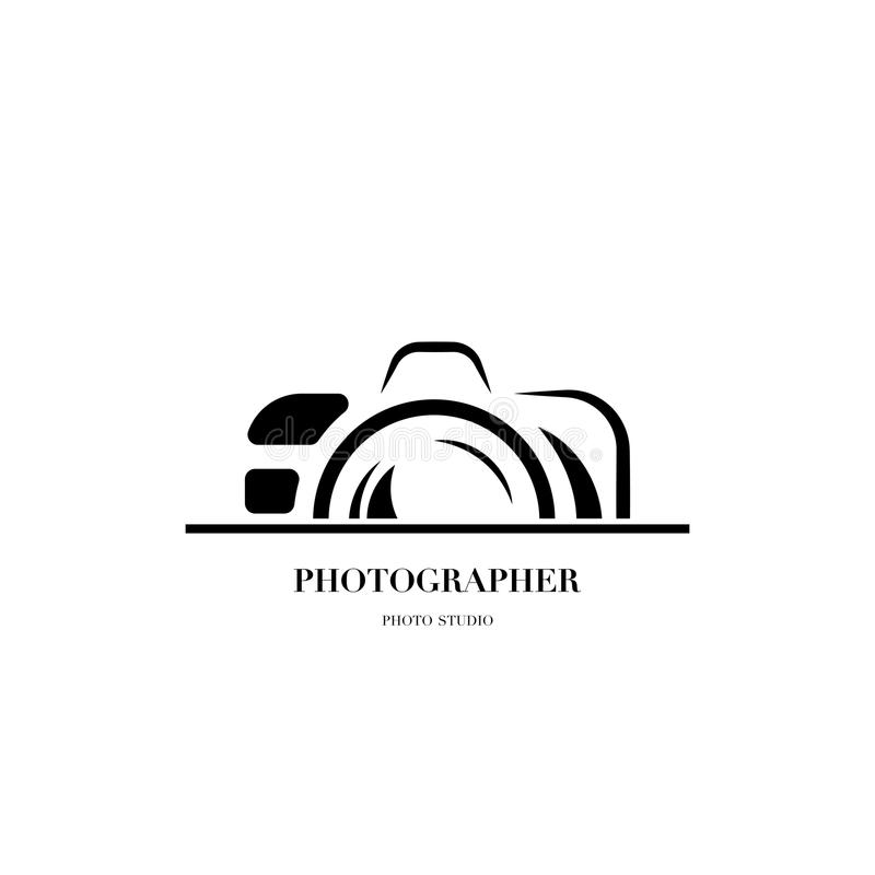 Abstract camera logo vector design template for professional pho. Tographer or photo studio royalty free illustration