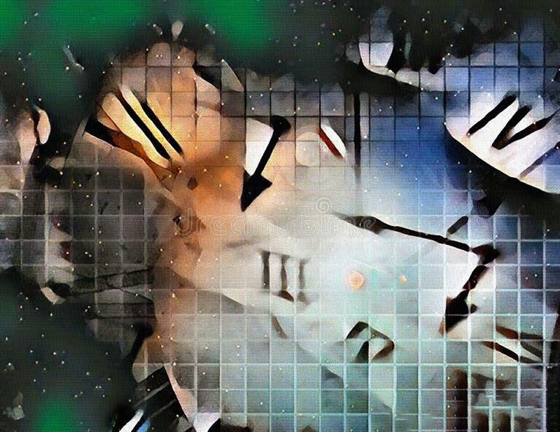 Time is Illusion stock illustration. Illustration of fractal - 175425384