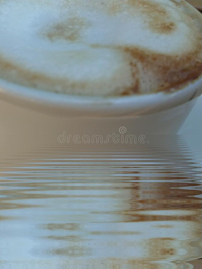 Abstract Cappuccino Coffee Break Art royalty free stock photos