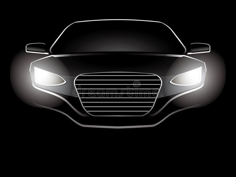 Abstract car. Vector illustration of an abstract car stock illustration