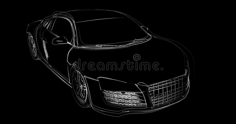Abstract Car Construction Royalty Free Stock Images