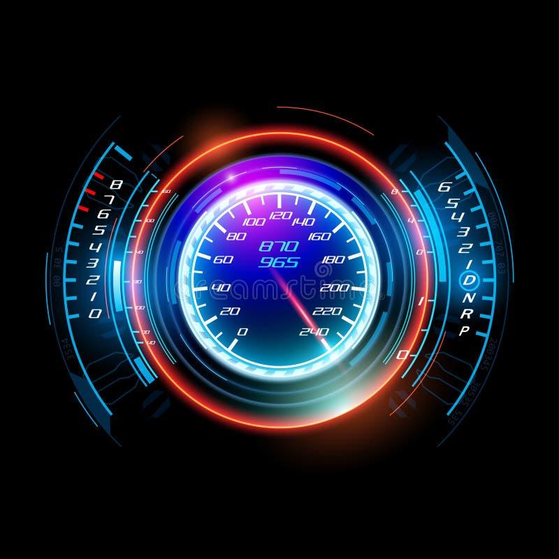 Abstract car speedometer vector illustration