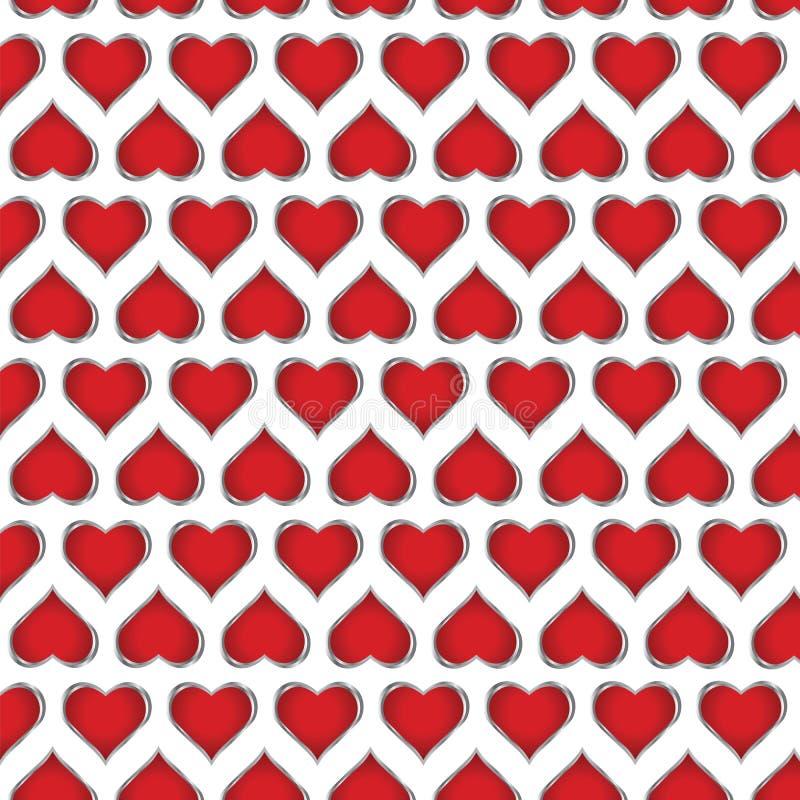 abstract card valentine 皇族释放例证