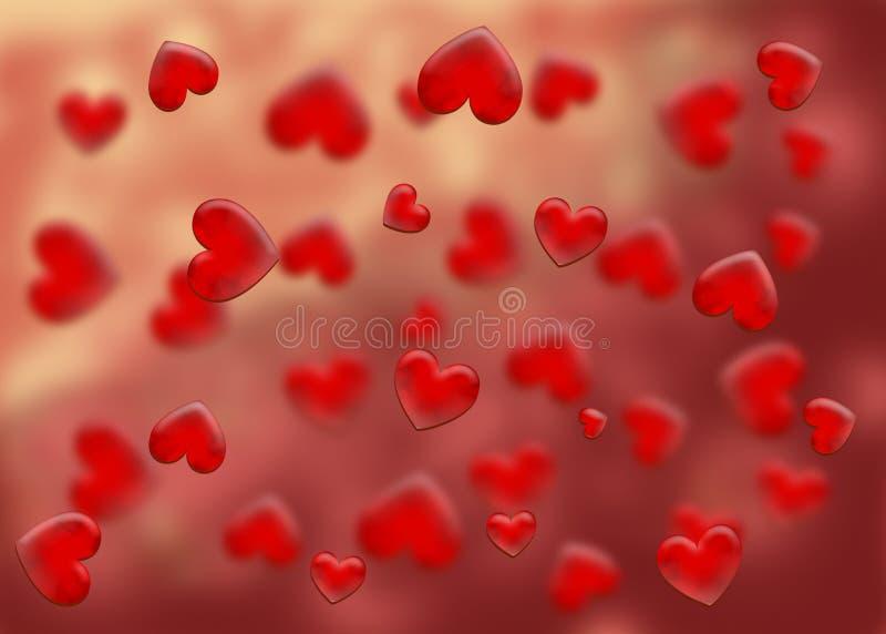 abstract card valentine royaltyfri illustrationer