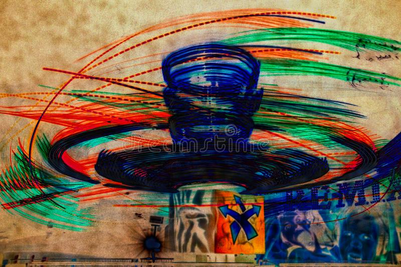 Abstract Carnival Lights stock photo