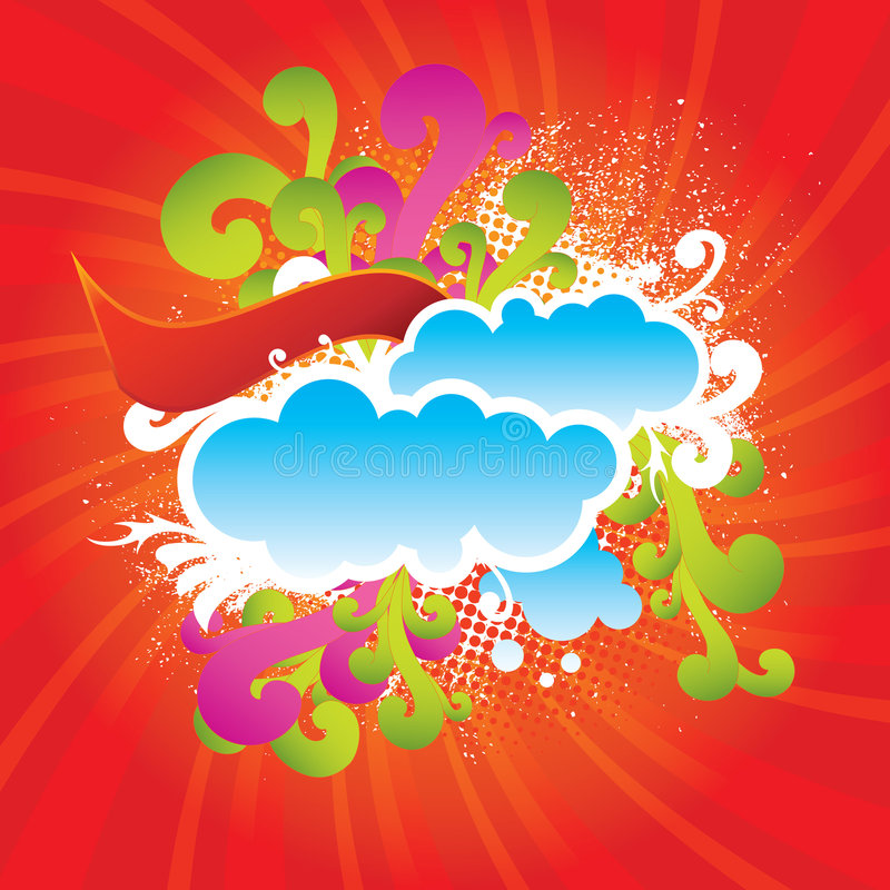 Free Abstract Cartoon Background Royalty Free Stock Photo - 8111245