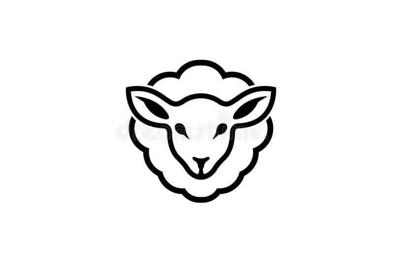 Abstract Cartoon Sheep Logo stock illustration