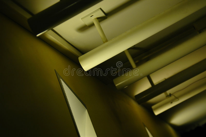 Abstract Ceiling Lighting Royalty Free Stock Photos