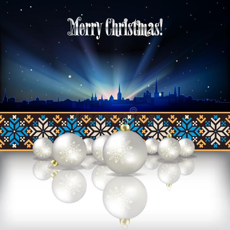 Download Abstract Celebration Background With Christmas Dec Stock Vector - Illustration: 32461465