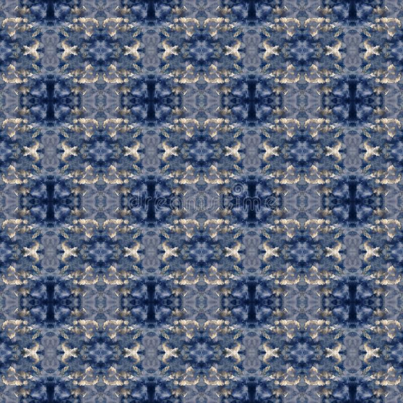 Abstract celestial blue seamless pattern. Skiey background. stock photo