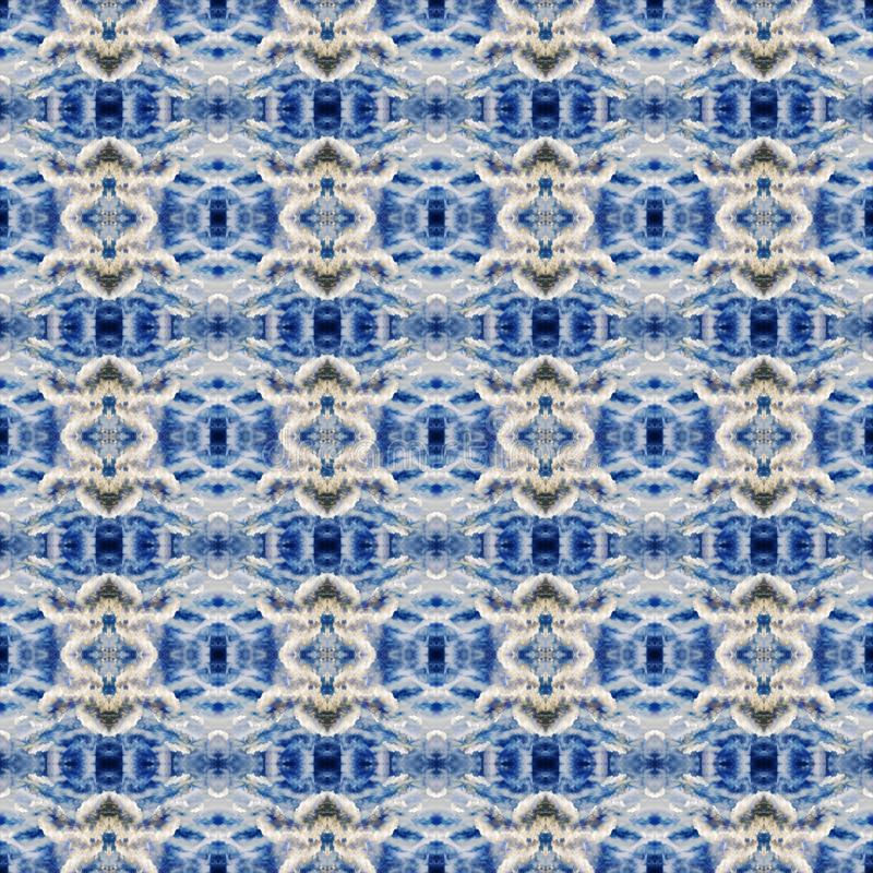 Abstract celestial blue seamless pattern. Skiey background. royalty free stock image