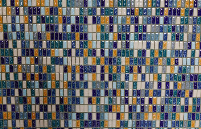 Abstract ceramic mosaic wall. Of an old building in Singapore stock photography