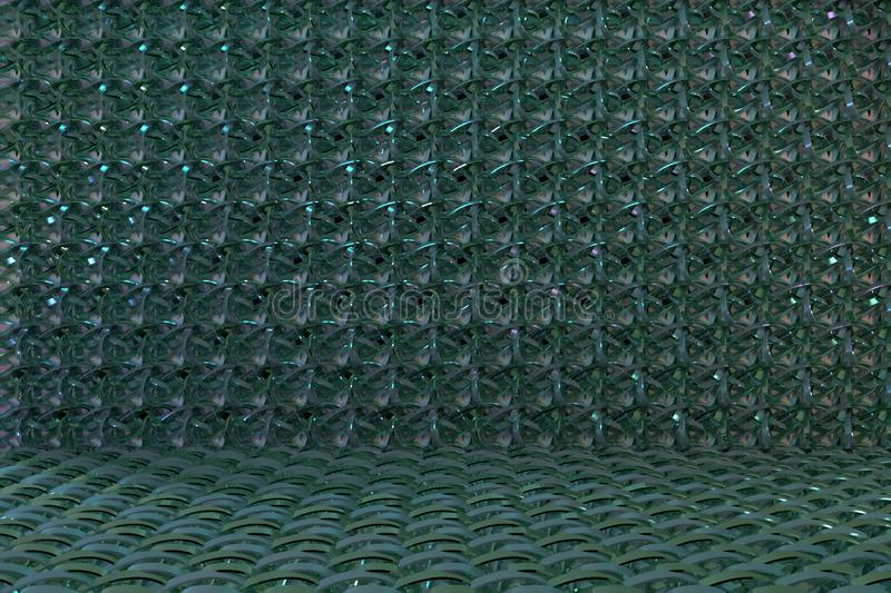 Abstract CGI composition, string mat geometric backdrop. Wallpaper for graphic design. 3D render. Geometric backdrop, string mat, CGI composition. For web page royalty free illustration