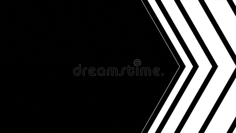 Abstract CGI motion graphics and animated background with moving black and white angle. High Definition CGI motion vector illustration
