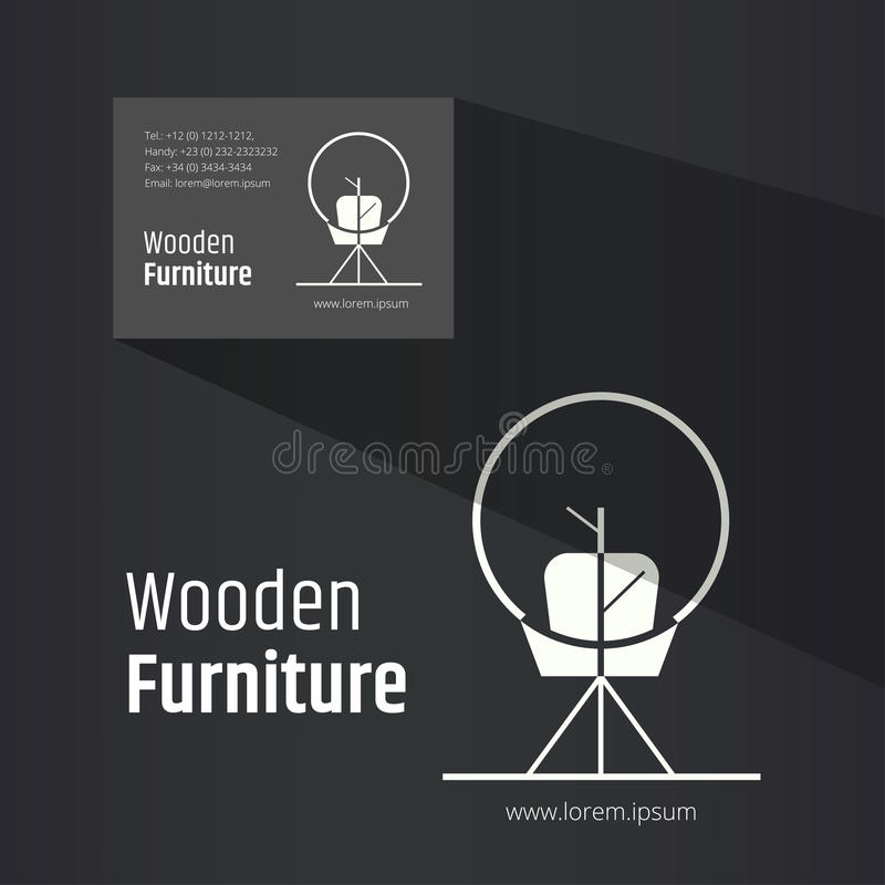 Abstract Chair Symbol - Creative Wooden Furniture Logo Design ...