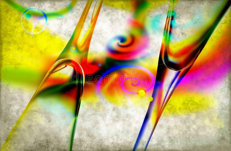 Abstract champagne glasses stock photography