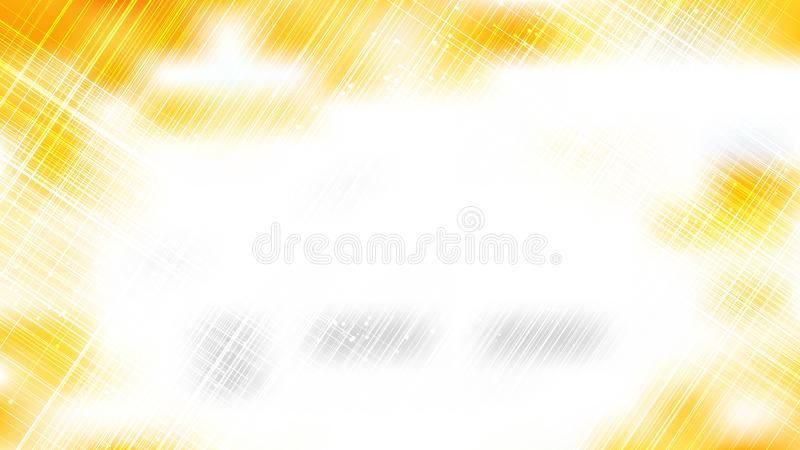Abstract Chaotic Intersecting Lines Orange and White Background Vetor ilustração do vetor