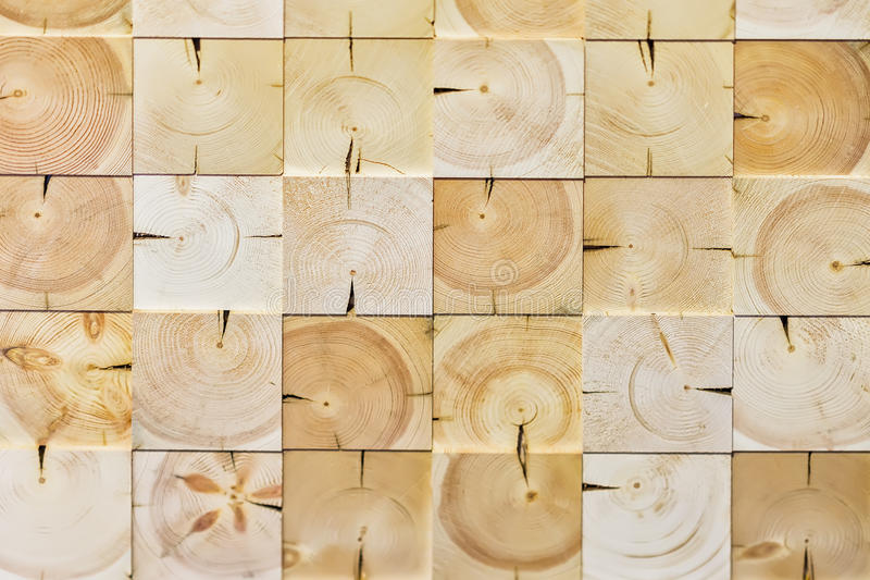 Abstract checkered pattern, from different ecologik wooden decorative tiles, natural wood texture, for modern background. Pattern, wallpaper or banner design royalty free stock image