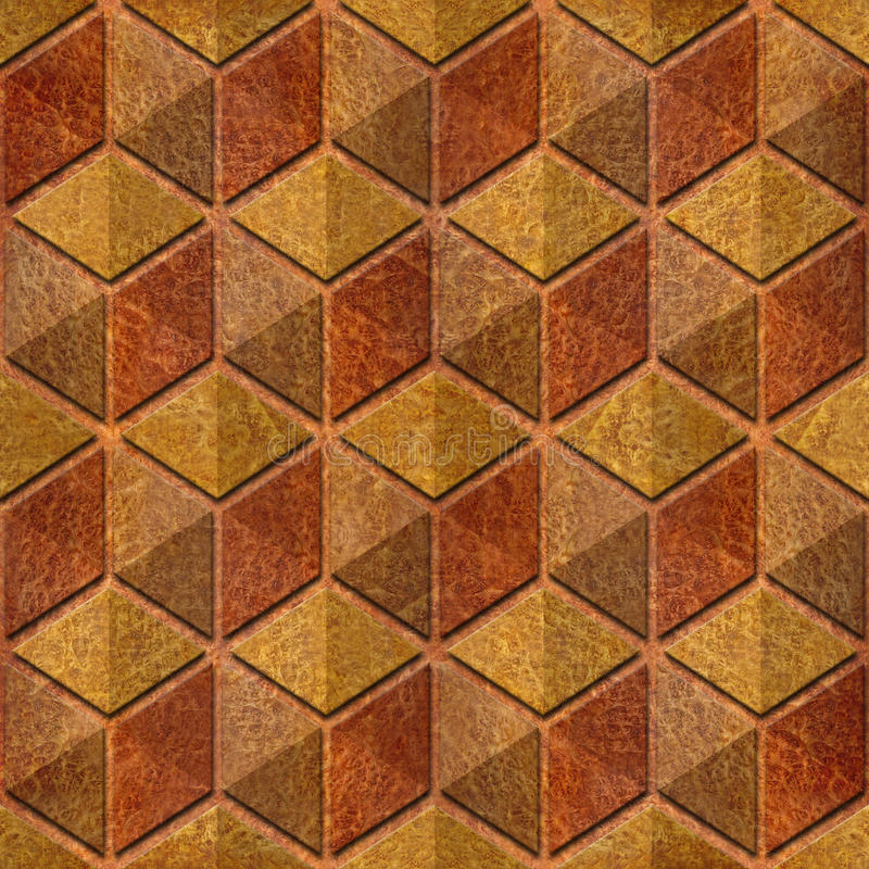 Abstract checkered pattern - seamless background, Carpathian Elm vector illustration