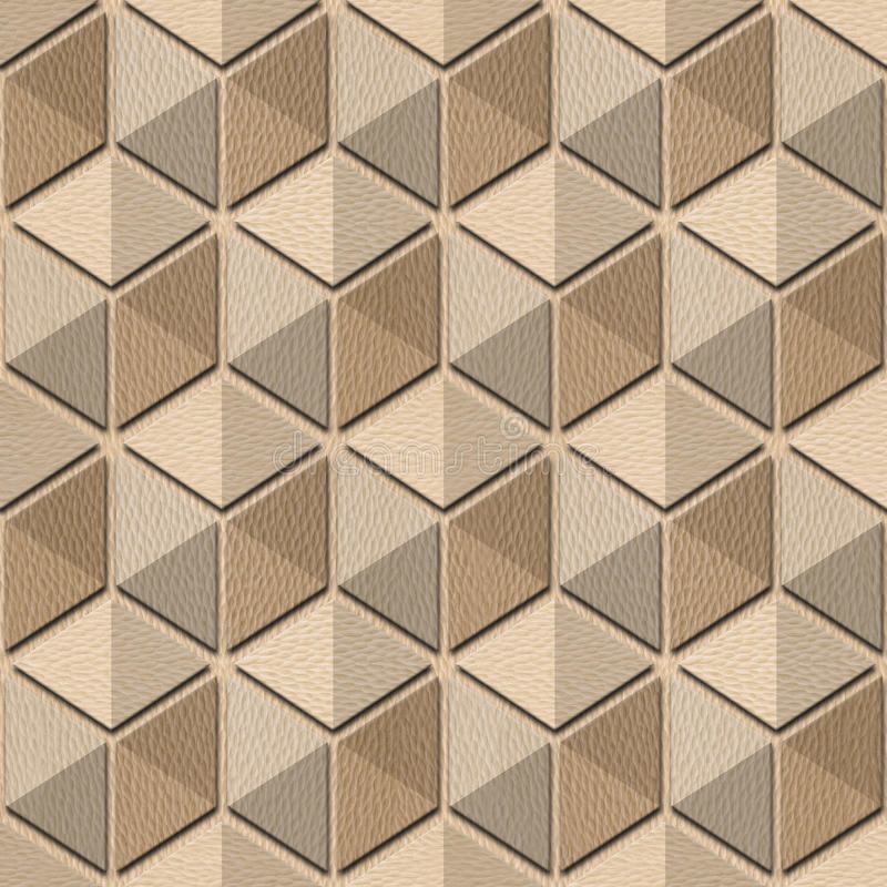 Abstract checkered pattern - seamless background, White Oak wood royalty free illustration