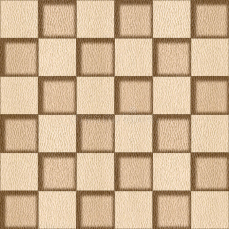 Abstract checkered pattern - seamless background - White Oak stock illustration