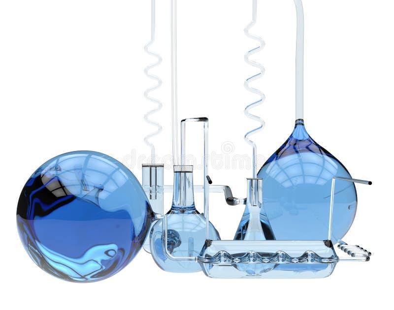 Abstract chemisch glaswerk vector illustratie