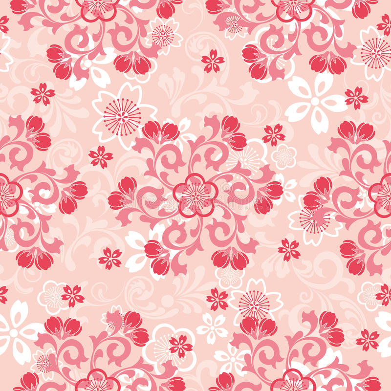Download Abstract Cherry Blossoms Pattern Stock Vector - Image: 19168355