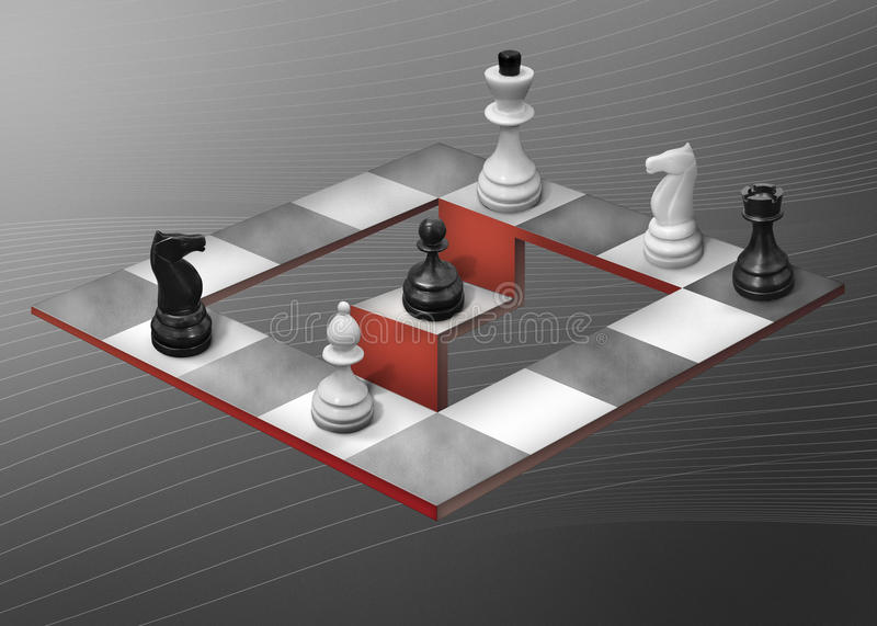 Abstract chess vector illustration