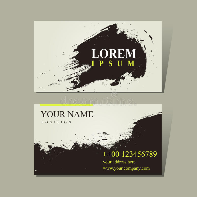 Abstract Chinese Calligraphy Design For Business Cards Stock Vector ...