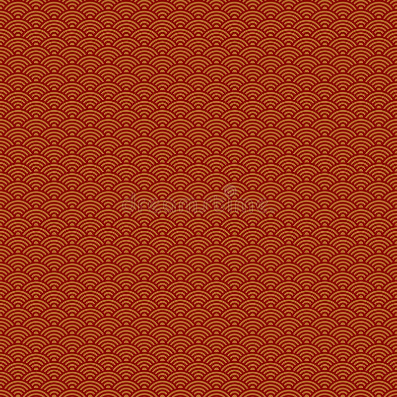 Abstract Chinese New Year seamless pattern royalty free illustration