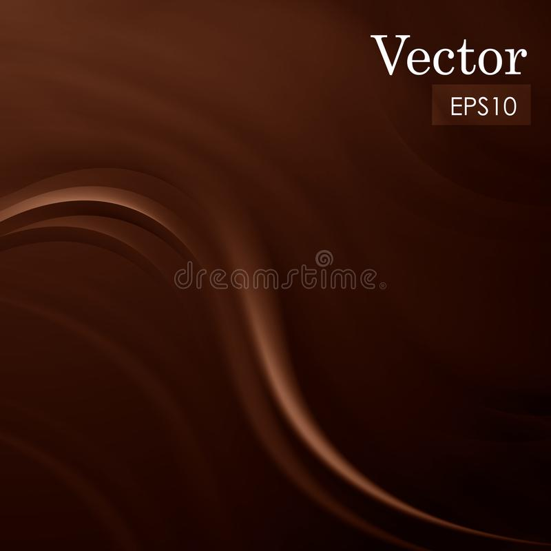 Abstract chocolate sweet silk background vector illustration. Abstract chocolate smooth silk background vector illustration vector illustration