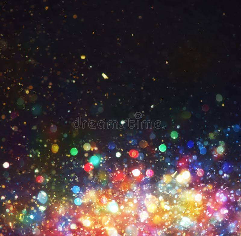 Abstract Christmas background with colorful lights in the night. Abstract Christmas with colorful lights in the night background royalty free illustration