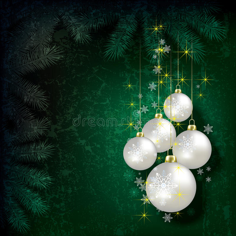 Abstract Christmas background with decorations stock illustration