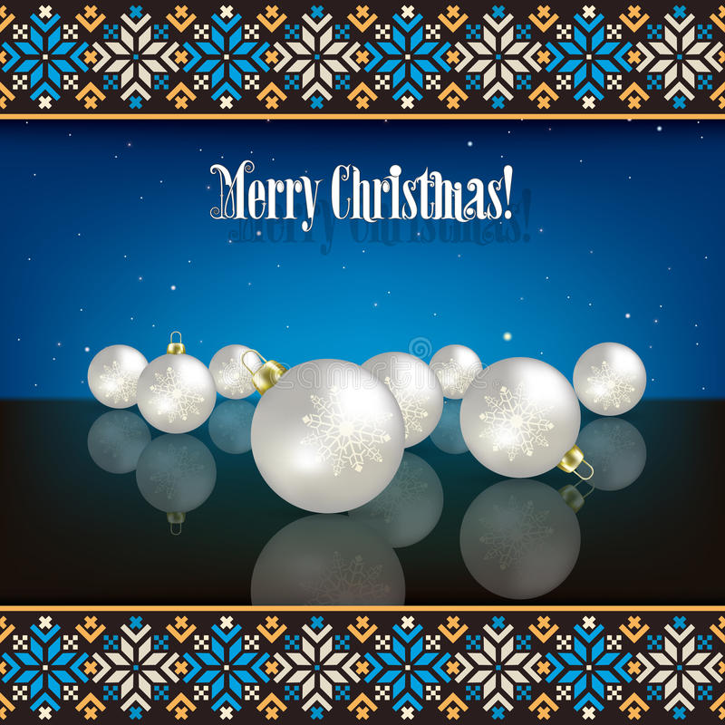 Download Abstract Christmas Background With Decorations And Stock Image - Image: 32461557