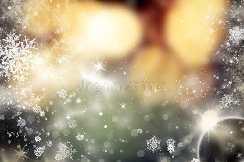 abstract Christmas background with holiday lights and copy space royalty free illustration