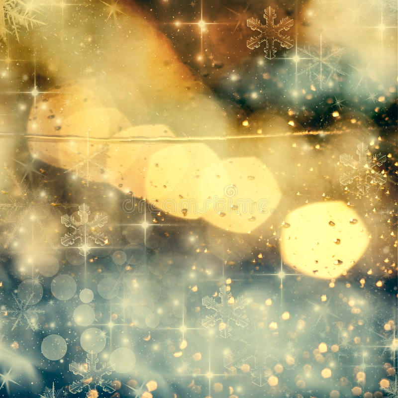abstract Christmas background with holiday lights royalty free illustration