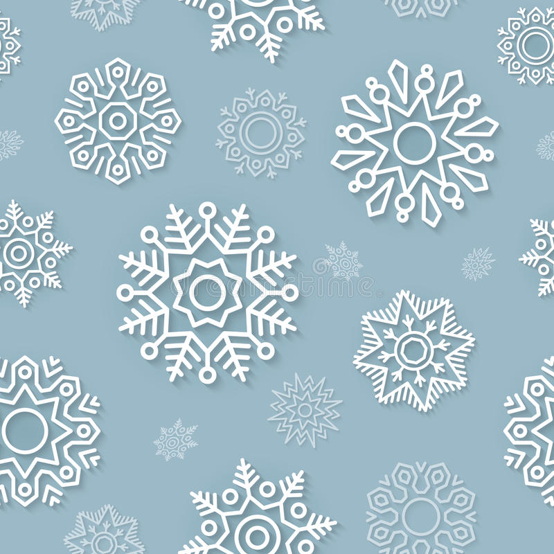 Abstract Christmas background seamless pattern with snowflakes stock photography