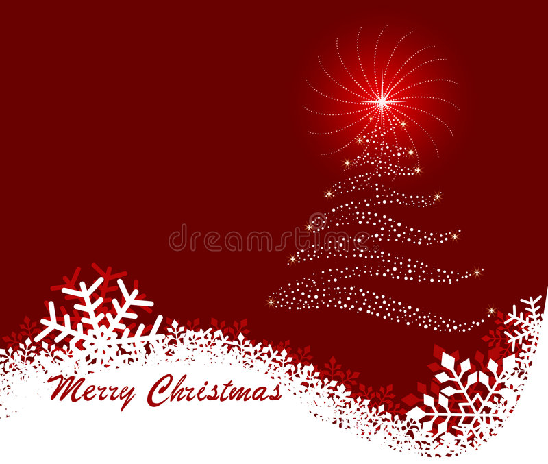 Abstract Christmas background - vector stock illustration